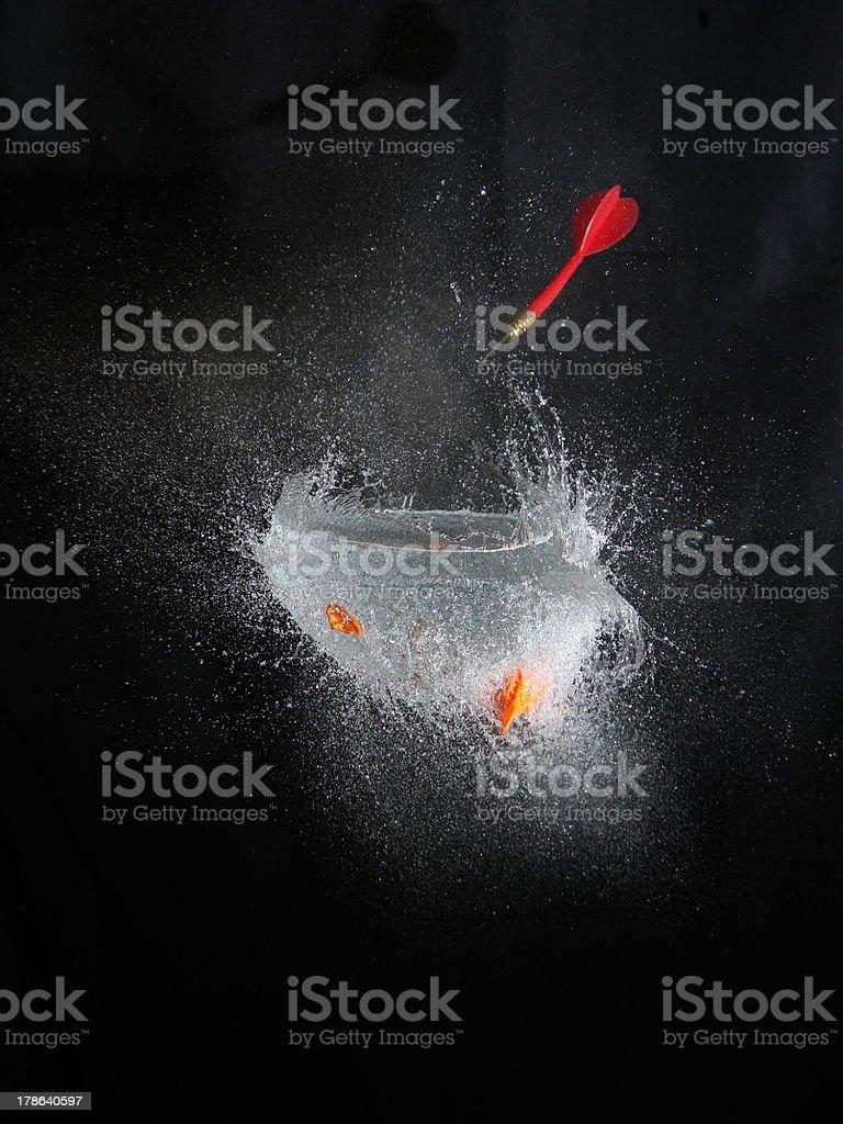 Highspeed balloon explode stock photo