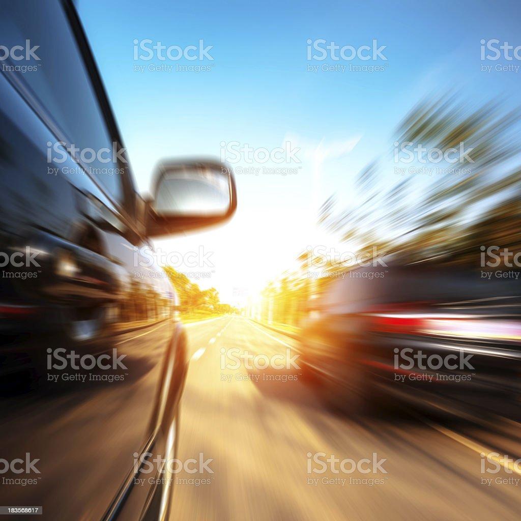 high-speed car stock photo
