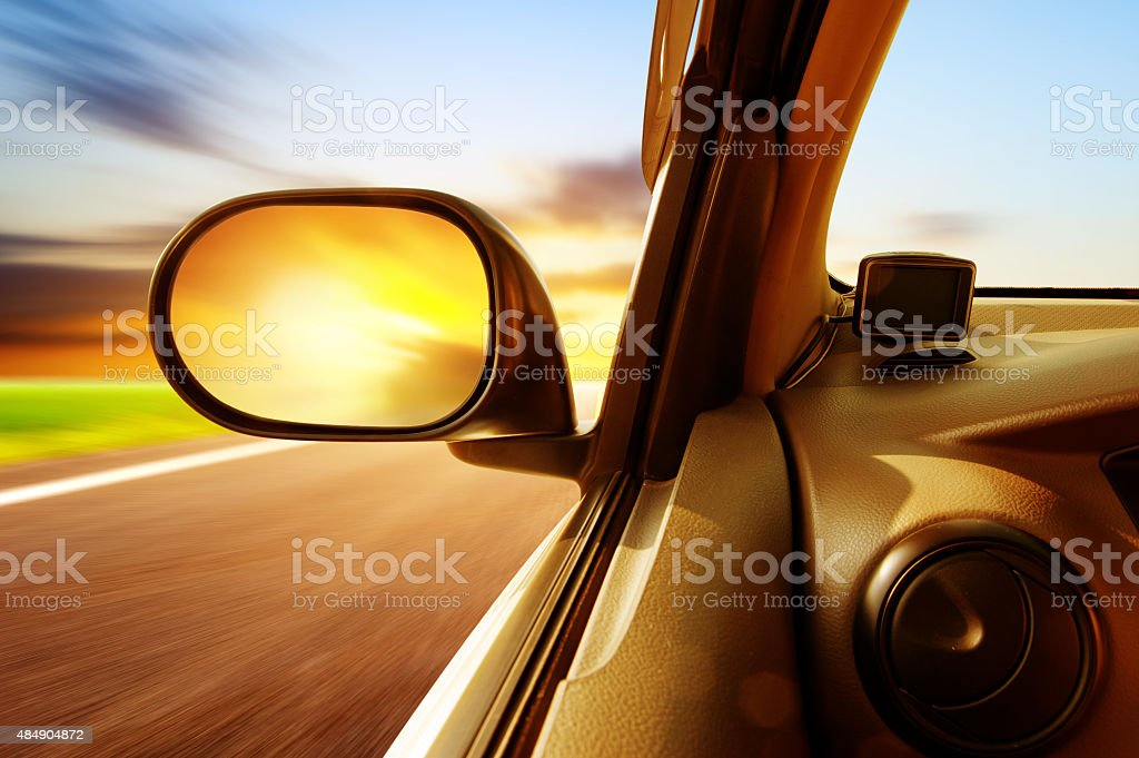 High-speed car stock photo