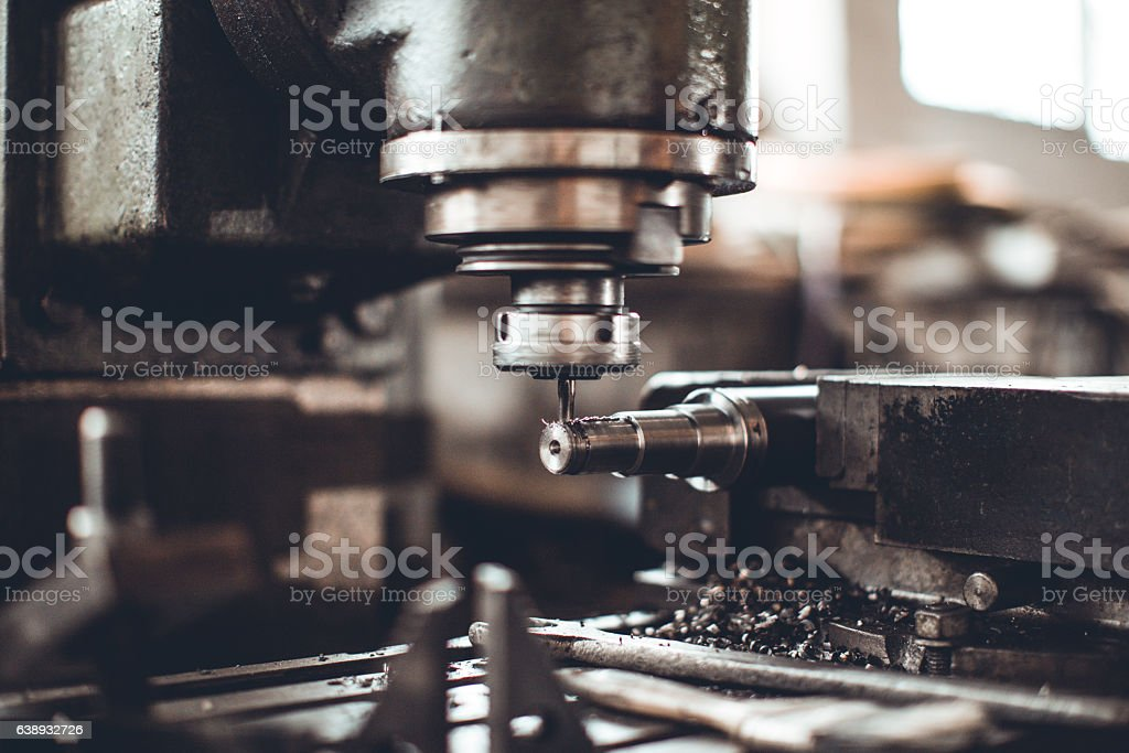 High-speed drill machine stock photo