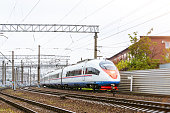 High-speed electric train.