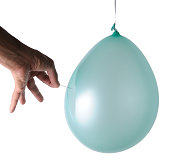 High-Speed Image: Popping Balloon with Pin