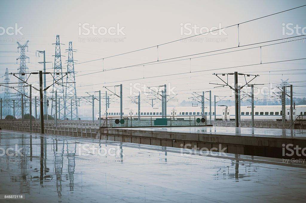 High-speed Railway Station stock photo