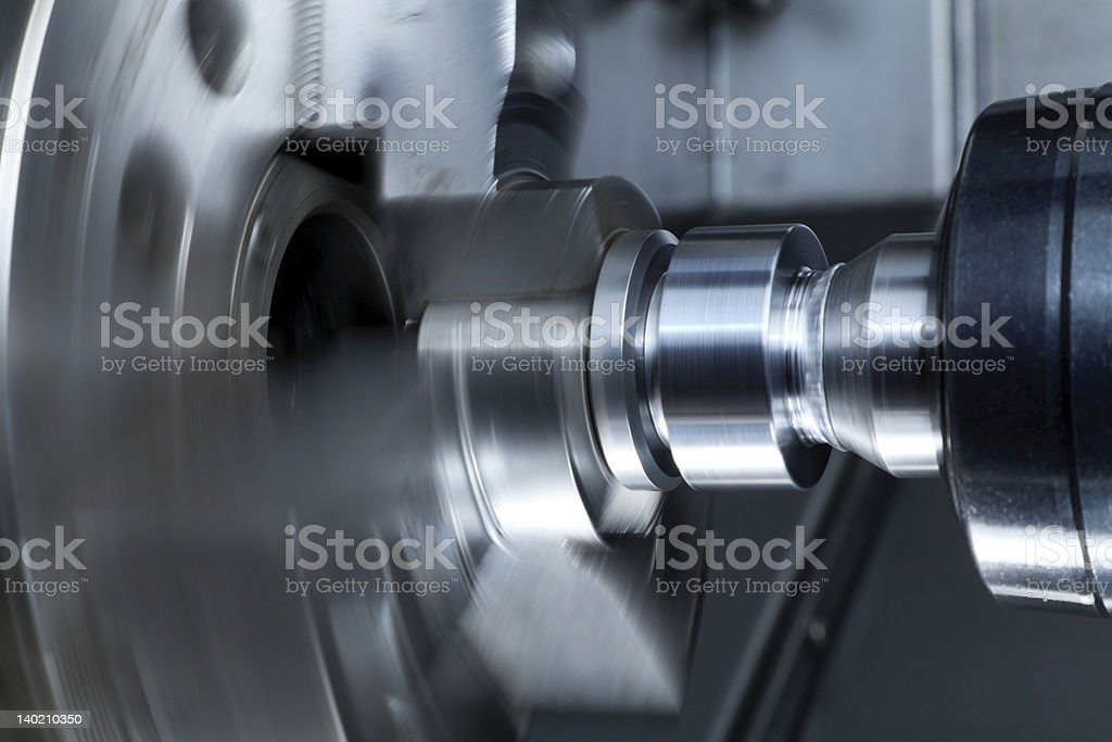 High-speed rotary thimble in motion stock photo