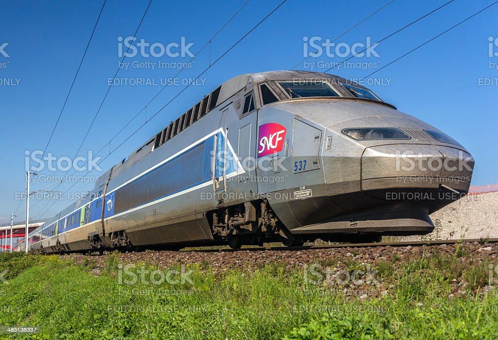 SNCF TGV high-speed train stock photo