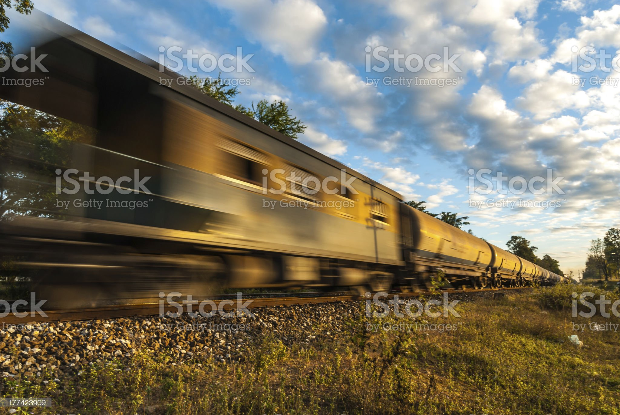 High-speed trains royalty-free stock photo