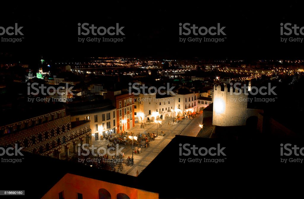 Hight Square at night stock photo