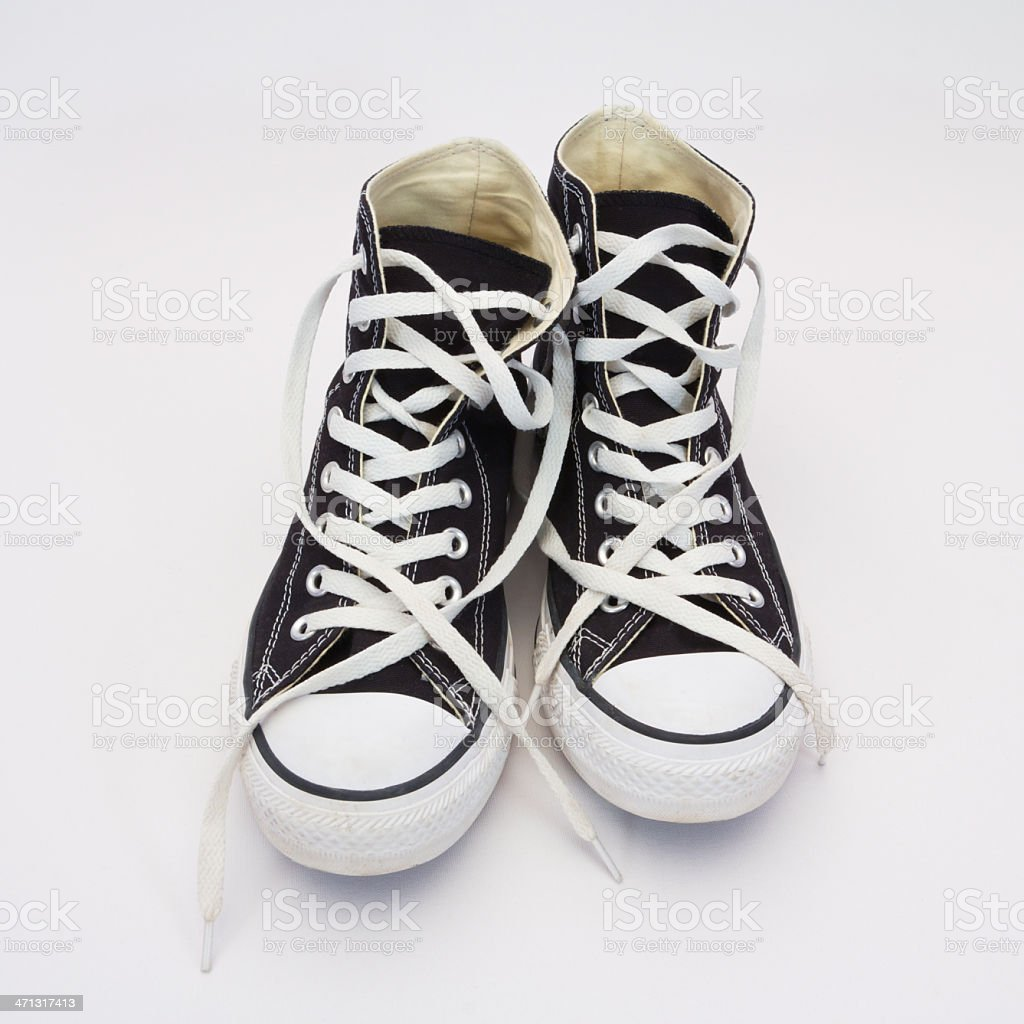 Hight Top Basketball Shoes stock photo