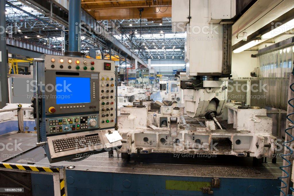 High-tech cnc machine stock photo