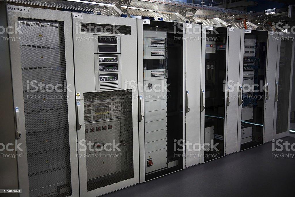 High-tech IT servers stock photo