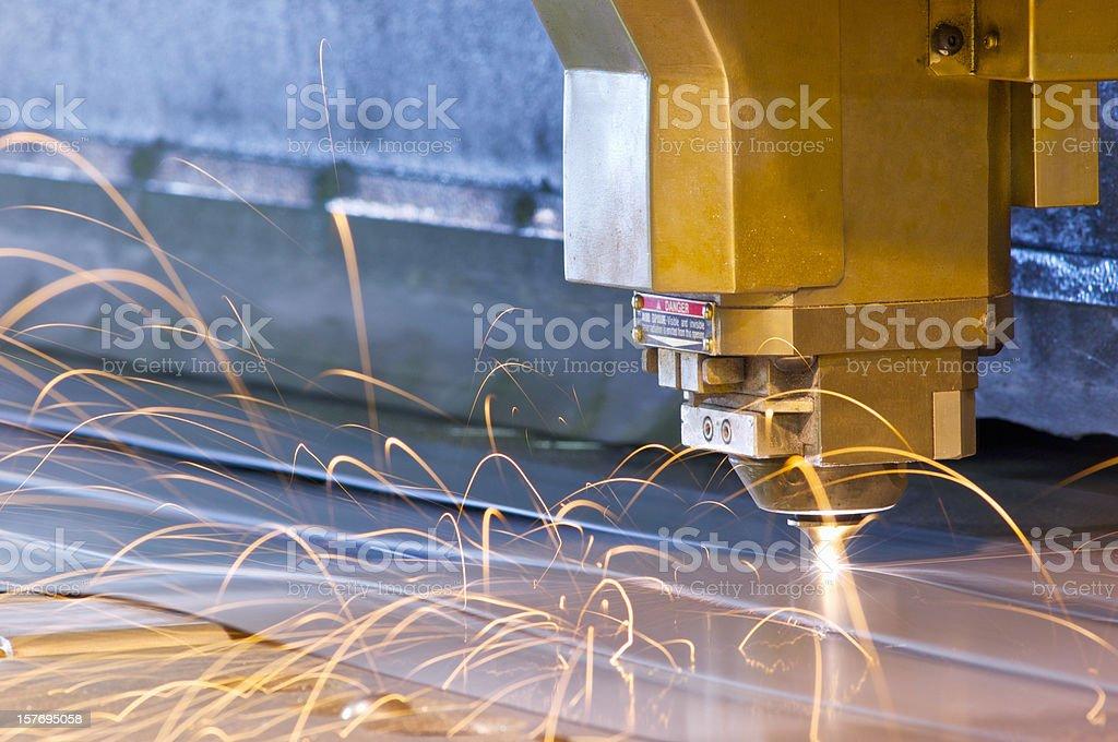 High-tech laser metal cutting tool stock photo