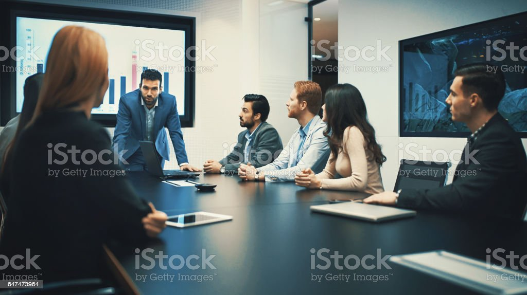 High-tech meeting. stock photo