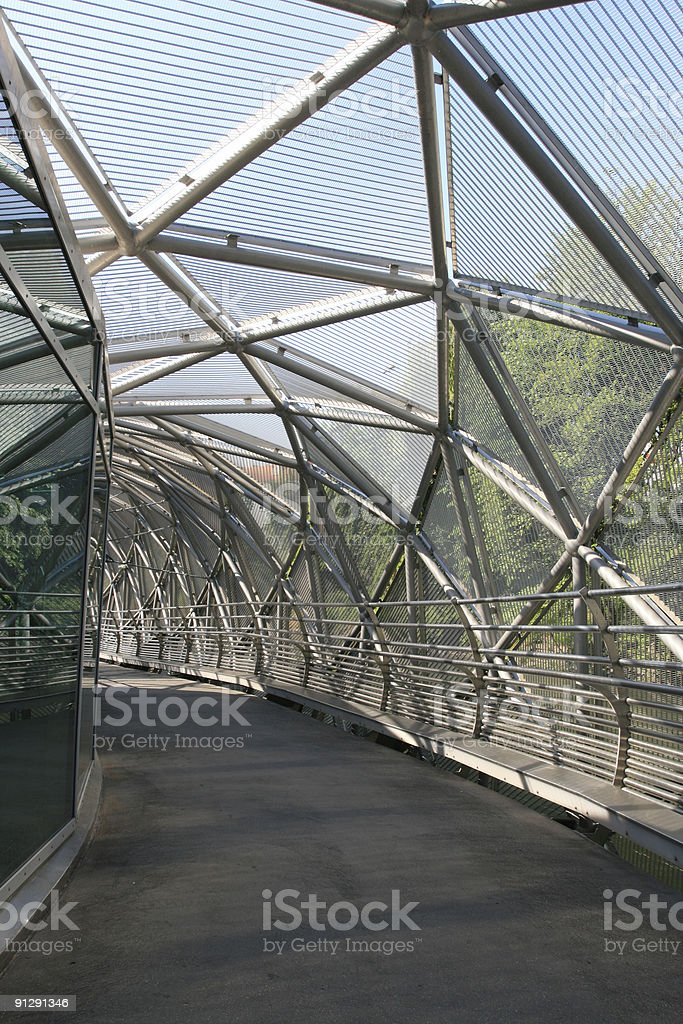 High-tech walkway royalty-free stock photo
