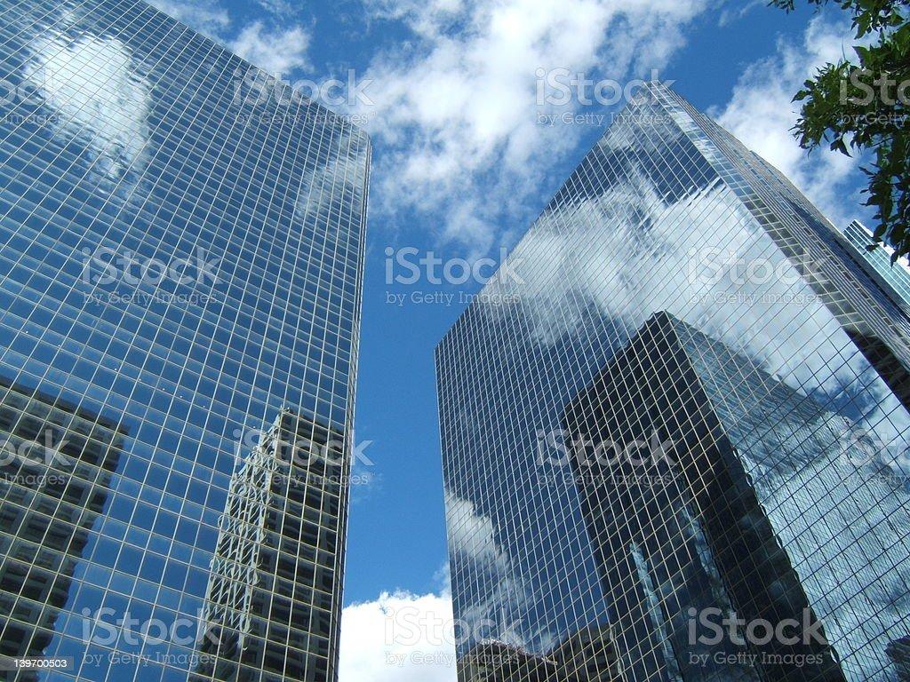 Hightrise reflection stock photo