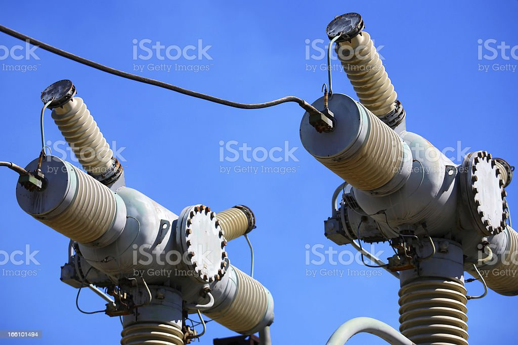 High-voltage electric equipment royalty-free stock photo