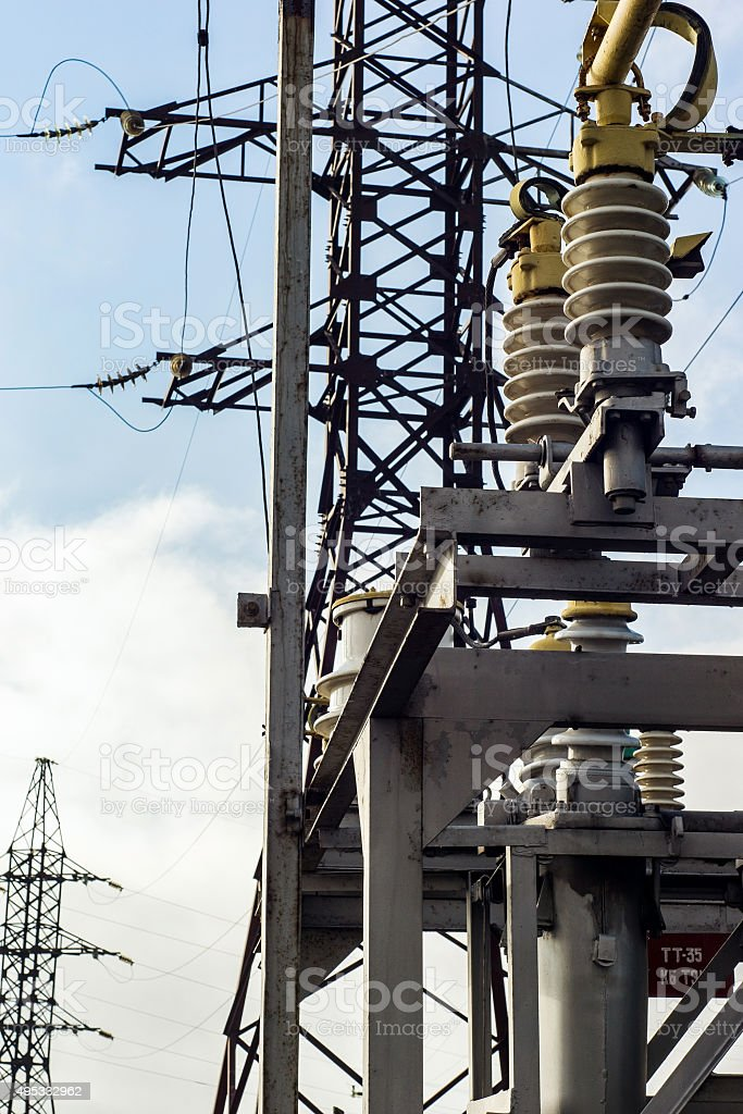 high-voltage electrical equipment stock photo