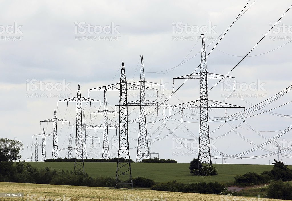 High-voltage lines royalty-free stock photo