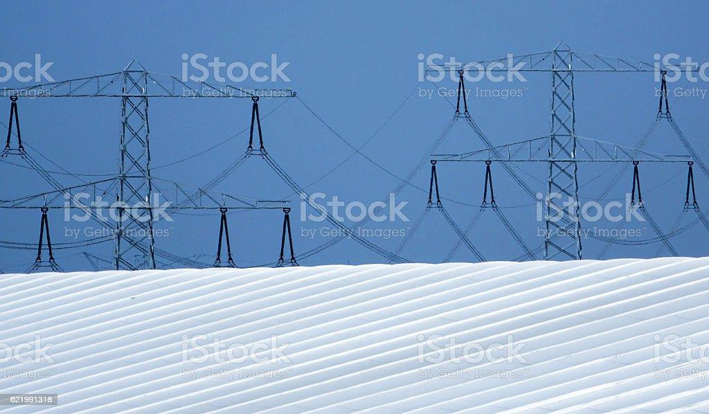 high-voltage stock photo