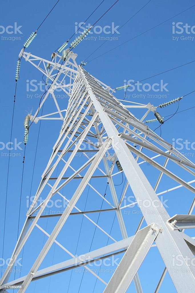 High-voltage prop. royalty-free stock photo