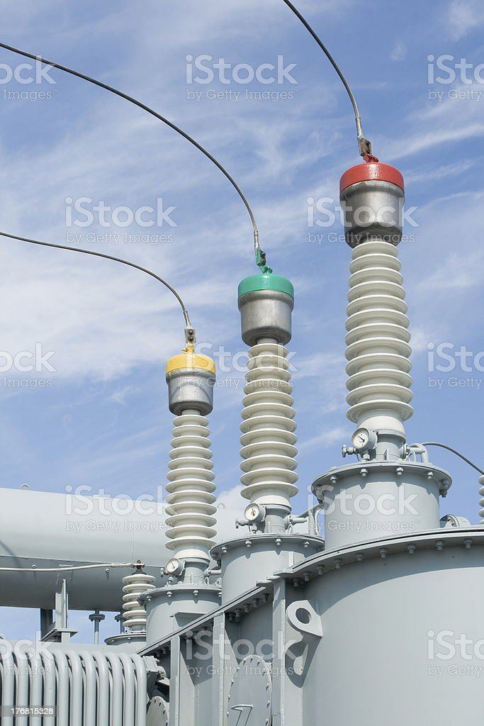 High-voltage substation equipments royalty-free stock photo