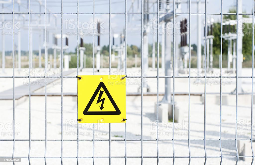 high-voltage substation royalty-free stock photo
