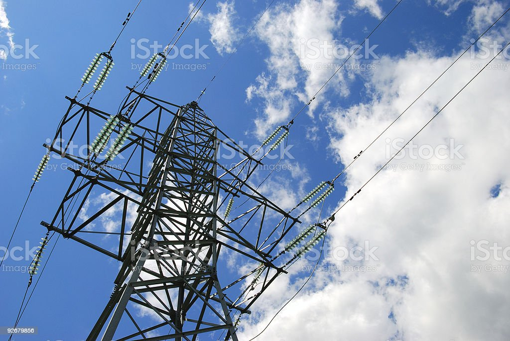 High-voltage tower royalty-free stock photo