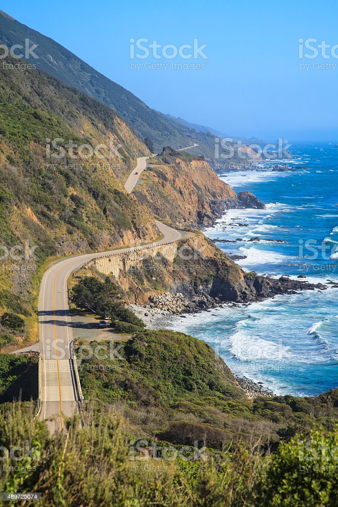 Highway 1, Big Sur, California stock photo
