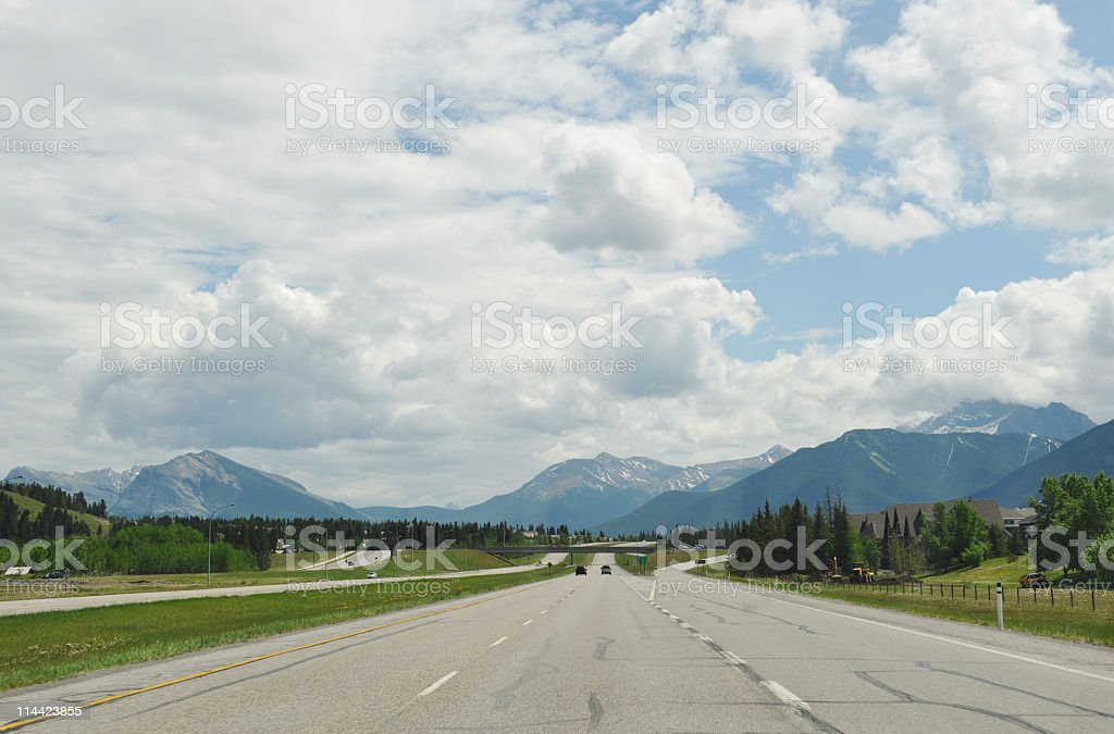 Highway 1 near Canmore royalty-free stock photo