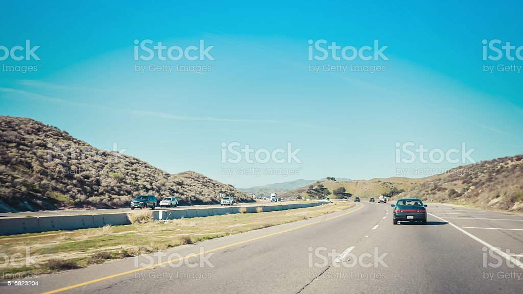 Highway 101 in California stock photo