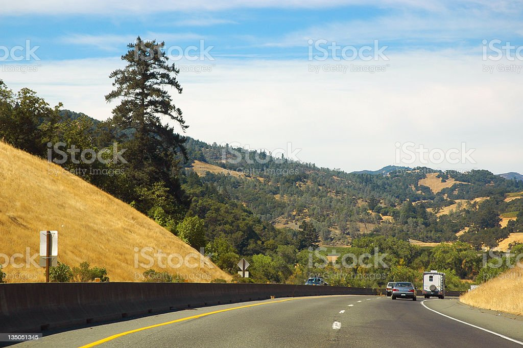 Highway 101, Northern California stock photo