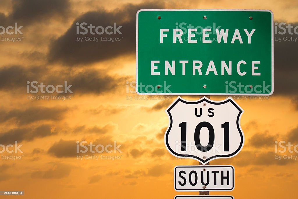 Highway 101 Sign royalty-free stock photo