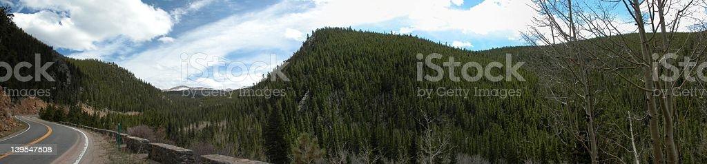 Highway 103, Colorado stock photo