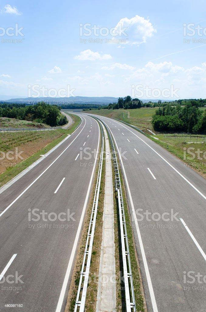 Highway 11 stock photo
