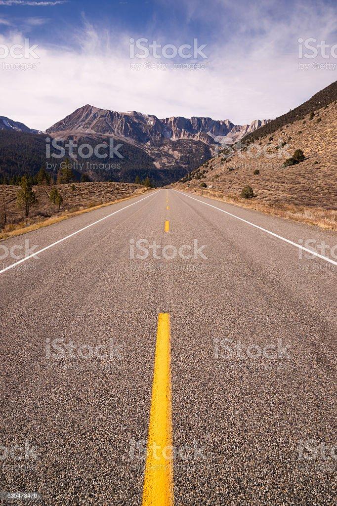 Highway 120 Entrance Tioga Pass Road Yosemite NP California stock photo
