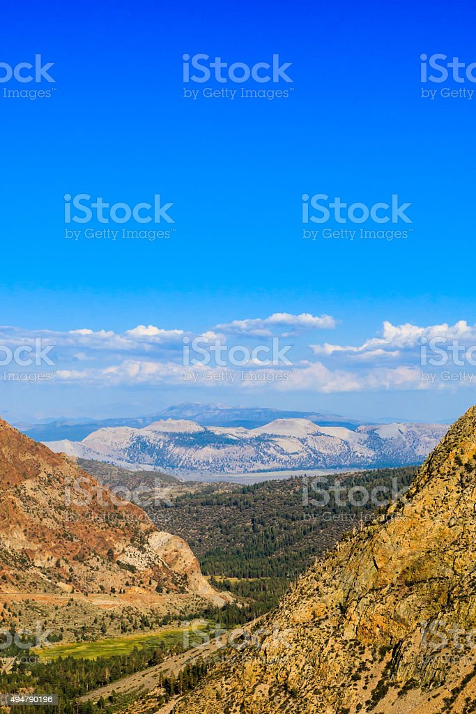 Highway 120, Inyo National Forest, California, USA stock photo