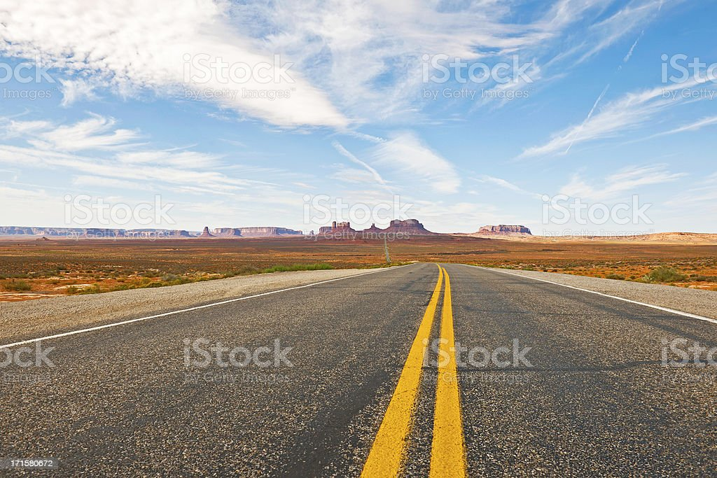 Highway 163 in Monument Valley, Utah USA royalty-free stock photo