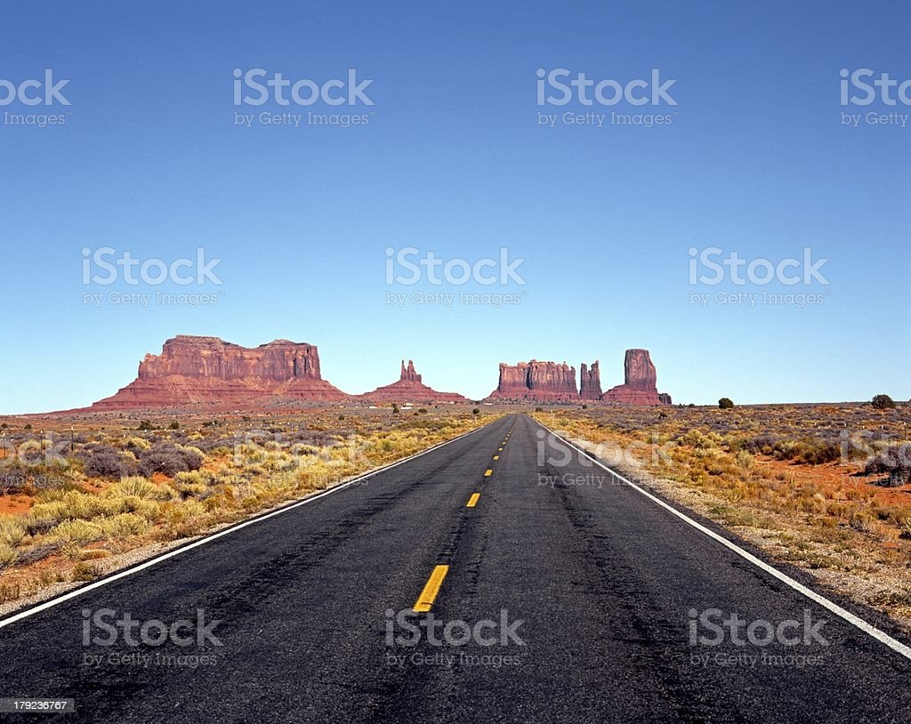 Highway 163, Monument Valley, USA. royalty-free stock photo