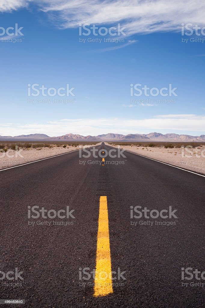 Highway 190 Death & Owens Valley California Nature stock photo