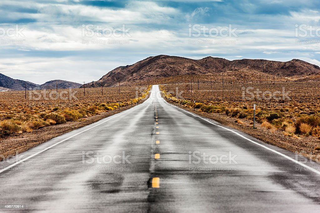 Highway 190, Death Valley, USA stock photo