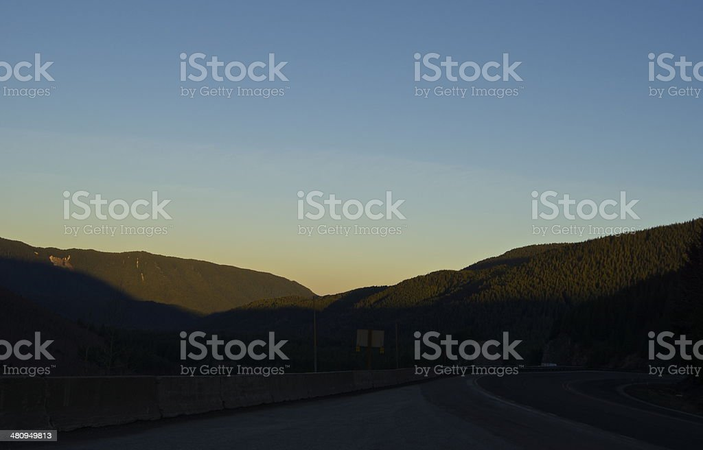 Highway 26 Alpenglow royalty-free stock photo