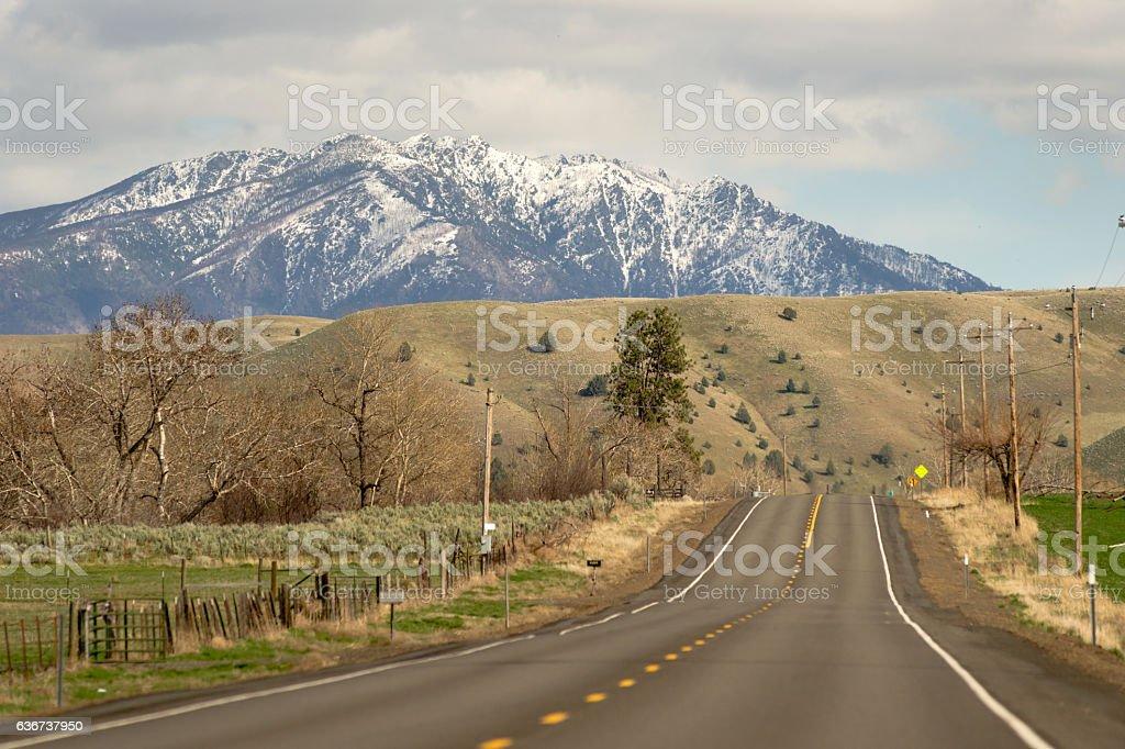 Highway 26 Heading East Oregon United States stock photo