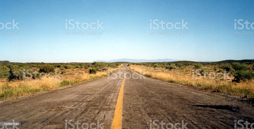 Highway 3 from Ensenada to San Felipe in Baja California stock photo