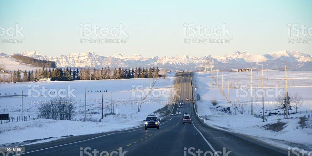 Highway 7 Alberta stock photo