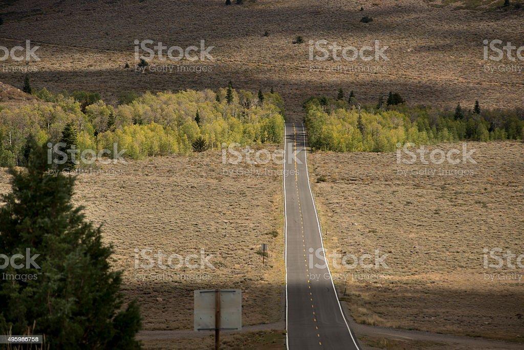 Highway 89 in Valley stock photo