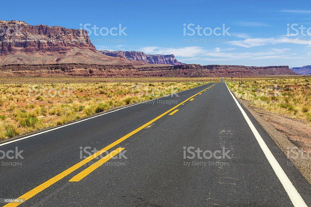 US Highway 89A, Arizona stock photo
