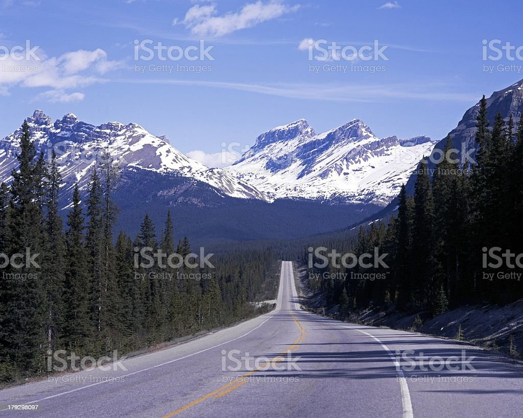 Highway 93, Icefields Parkway, Canada. stock photo
