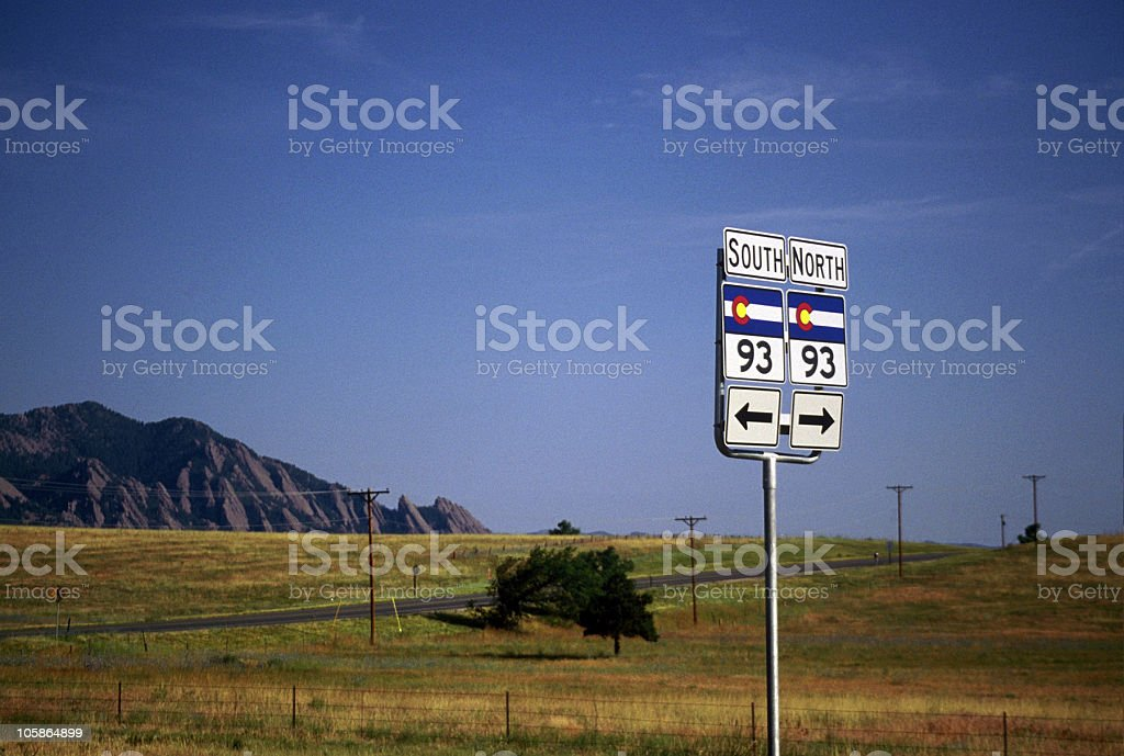 Highway 93 royalty-free stock photo