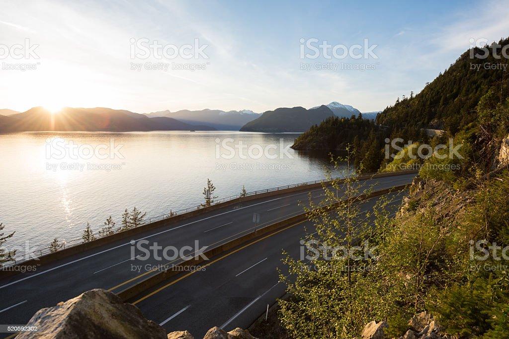 Highway 99 British Columbia stock photo