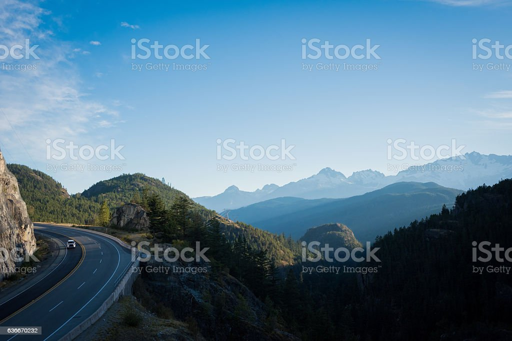 Highway 99 British Columbia stock photo