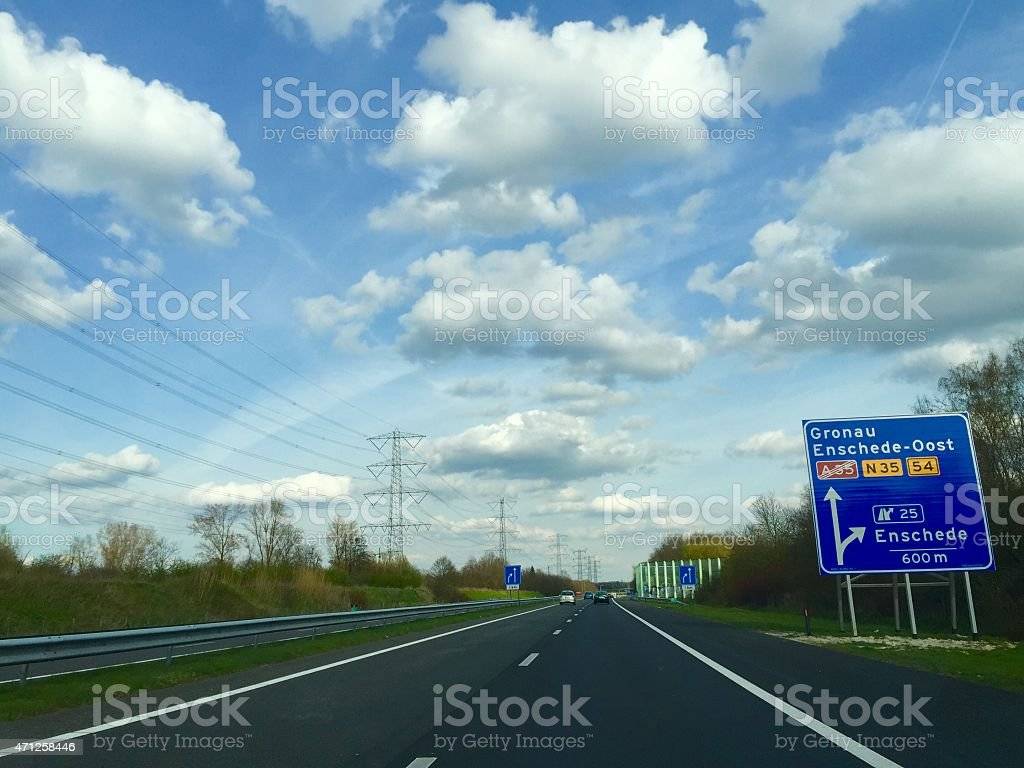 Highway A35 in Enschede The Netherlands stock photo